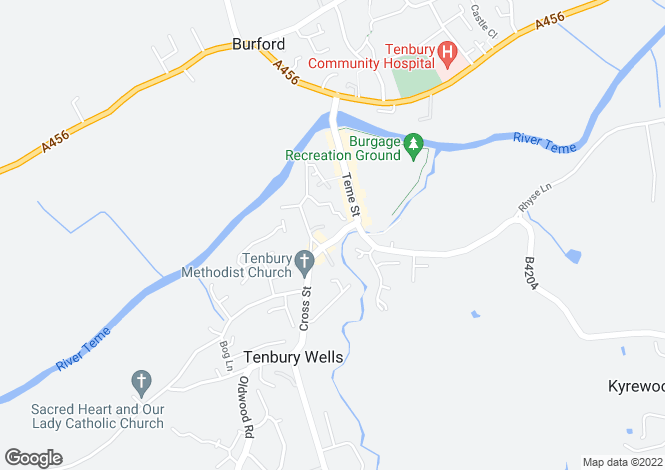 Map for 16 Market Street, Tenbury Wells, Shropshire, WR15 8BQ