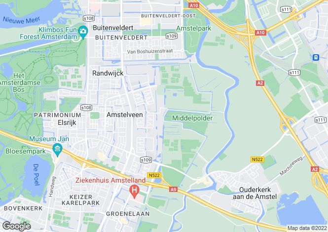 Map for Noord-Holland, Amstelveen
