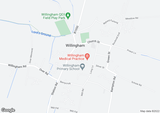 Map for Saxon Way, Willingham