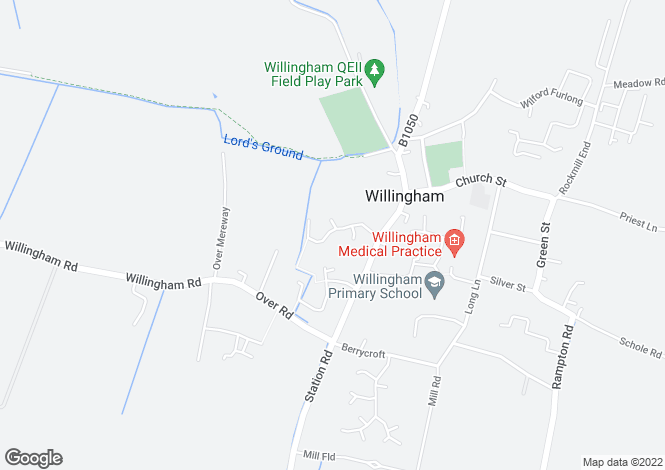 Map for Bourneys Manor Close, Willingham, Cambridgeshire