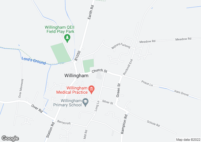 Map for Church Street, Willingham, Cambridgeshire