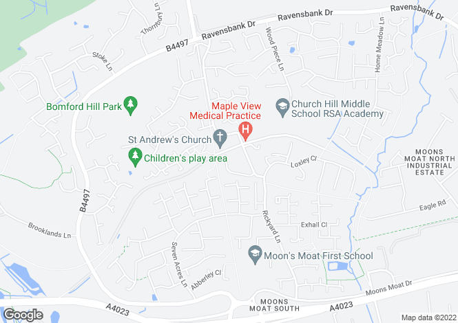 Map for Knowle Close, REDDITCH B98