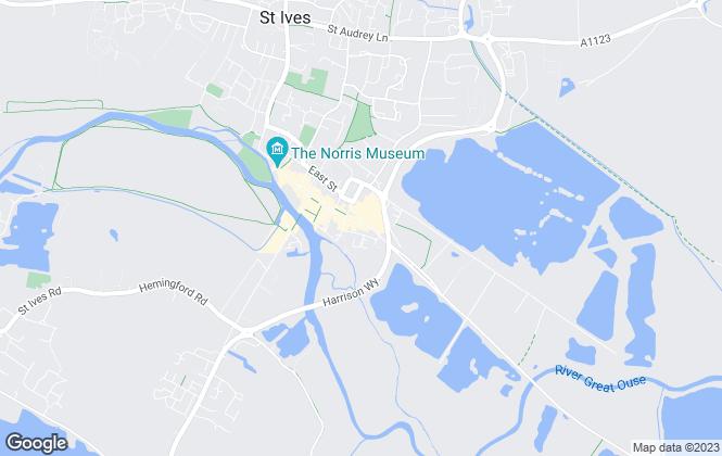 Map for Maxine Lester Residential Lettings, St. Ives