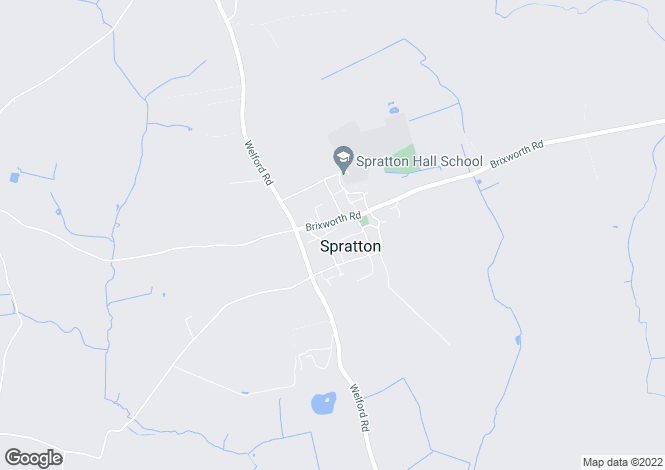 Map for Glebelands, SPRATTON, Northamptonshire