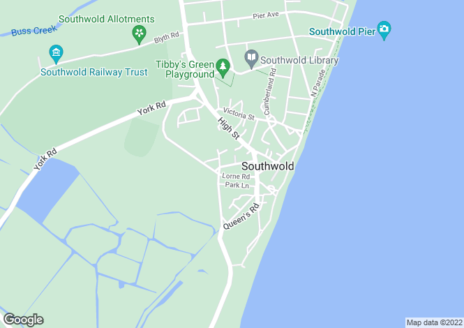 Map for Southwold