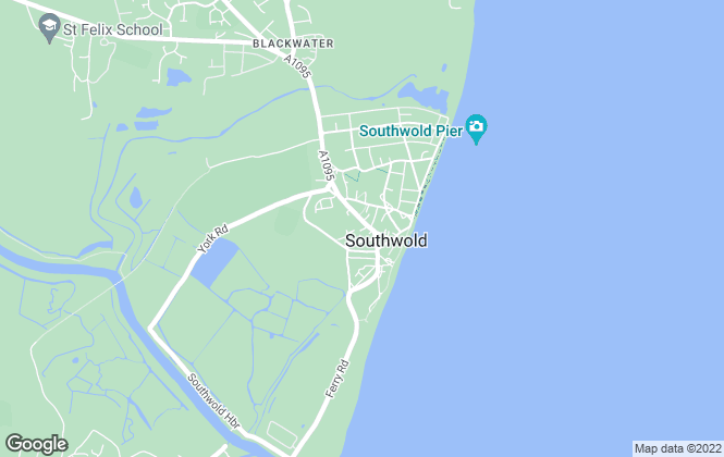 Map for Jennie Jones Estate Agents, Southwold