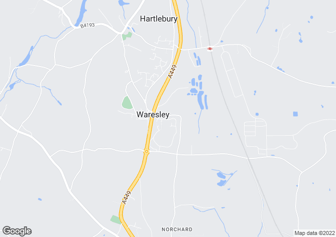 Map for Waresley Park, Hartlebury, Kidderminster, DY11