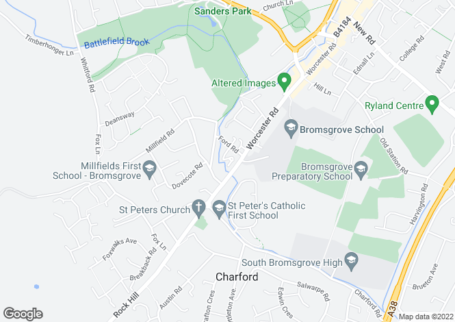 Map for St. Peters Court, St. Peters Close, Bromsgrove, Worcestershire, B61