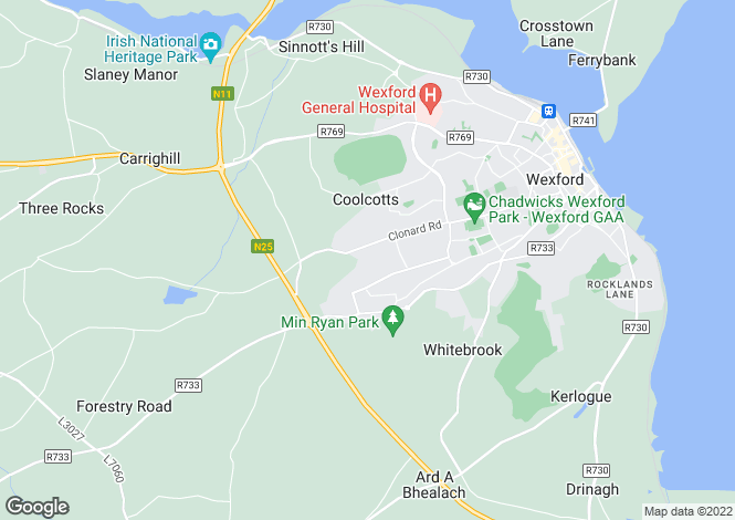 Map for Westpoint Business Park , Wexford Town, Wexford