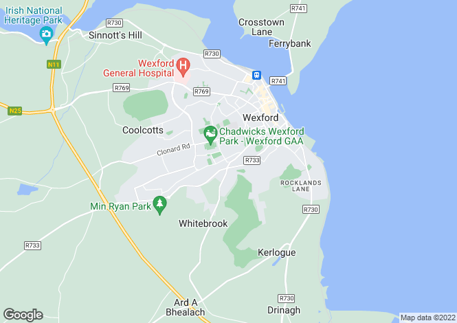 Map for 1A Kennedy Park, Wexford, Co. Wexford