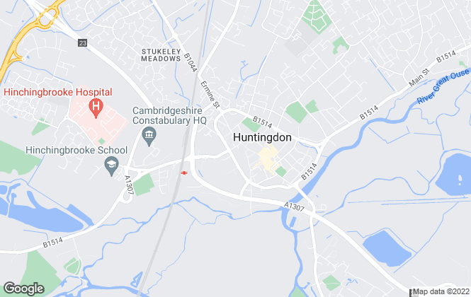 Map for Belvoir, Huntingdon