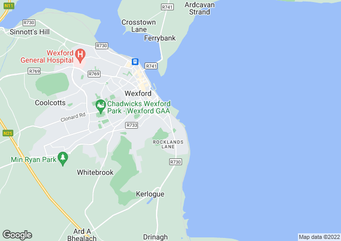 Map for 55 William Street, Wexford Town, Wexford