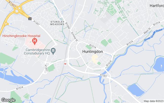 Map for Thomas Morris, Huntingdon