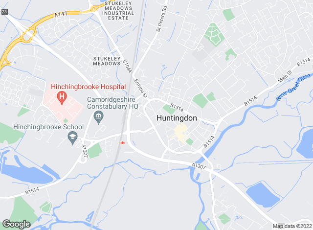 Map for harveyrobinson, Huntingdon