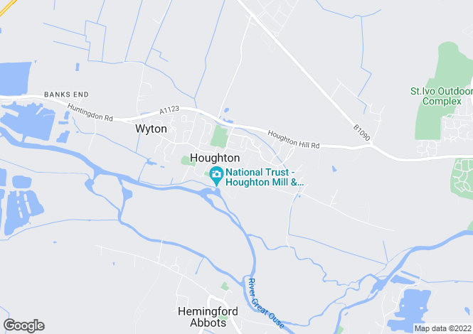 Map for Thicket Road, Houghton, Huntingdon, Cambridgeshire, PE28