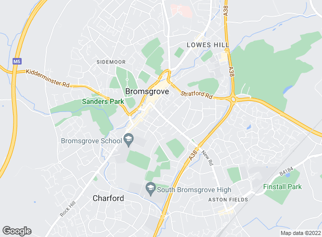 Map for Fisher German John Sanders, Bromsgrove