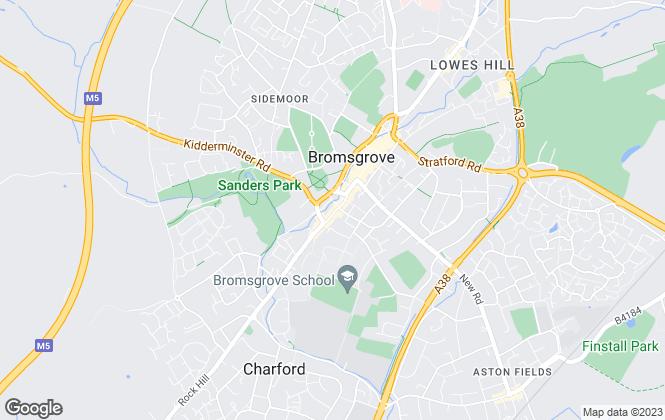 Map for A P Morgan Estate Agents, Bromsgrove Online