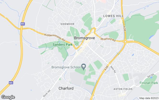 Map for A P Morgan Estate Agents, Bromsgrove