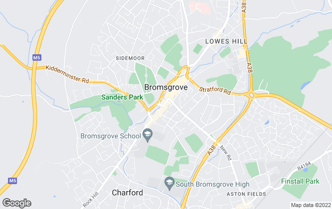 Map for Andrew Grant, Bromsgrove