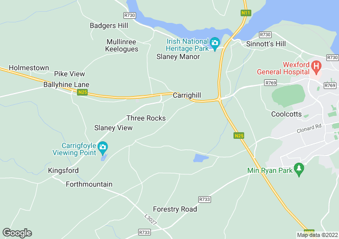 Map for Barntown, Wexford
