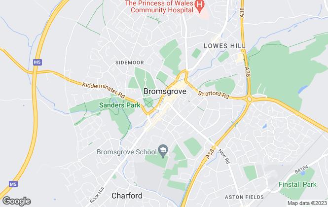 Map for Dixons, Bromsgrove