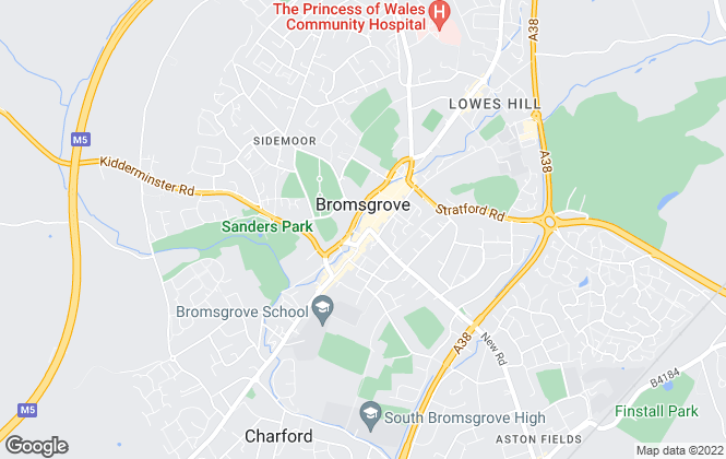 Map for Dixons, Bromsgrove