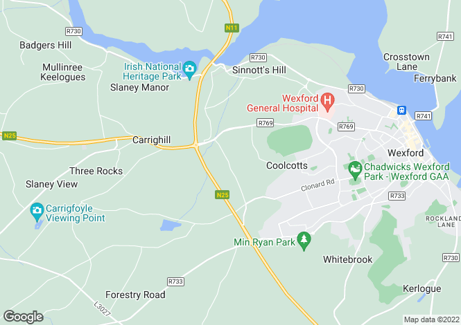 Map for Wexford, Wexford