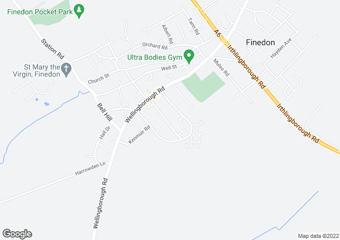 Map for Cromer Road, Finedon, Wellingborough, Northamptonshire