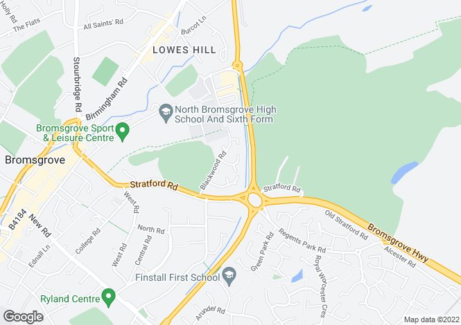 Map for Yew Tree Drive, The Laurels, Bromsgrove