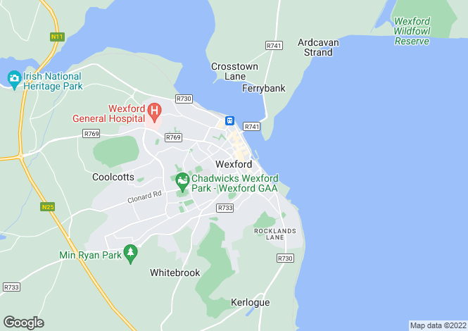 Map for 23 School Street, Wexford Town, Wexford