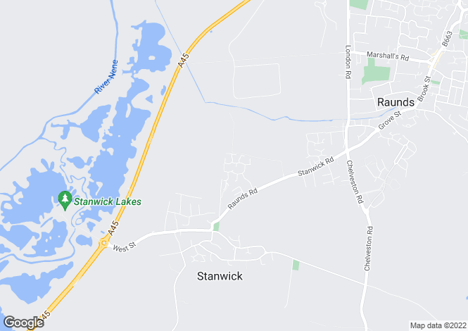Map for Courtman Road, Stanwick