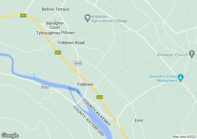 Map for Corloughan, Piltown, Co. Kilkenny