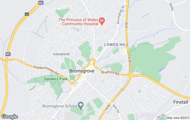 Map for Adams & Creed, Bromsgrove