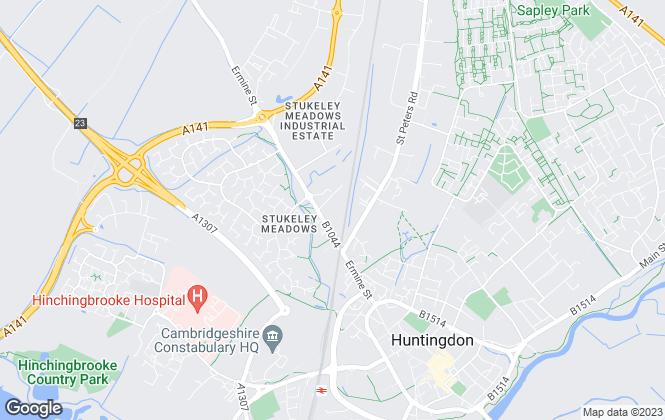 Map for Pennington Properties, Huntingdon