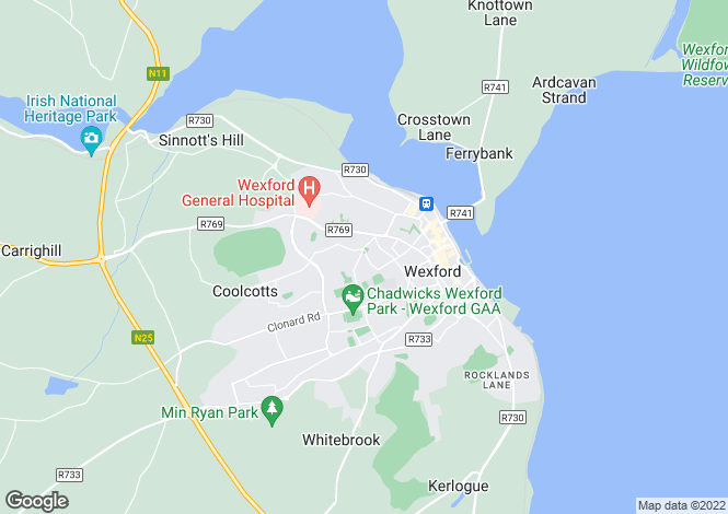 Map for St. John's Drive, Wexford Town, Wexford