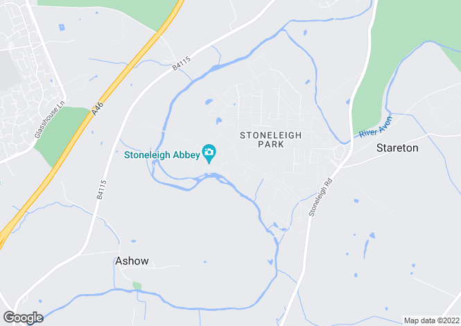 Map for Stoneleigh Abbey, Kenilworth, Warwickshire