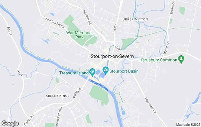 Map for Severn Estates, Stourport-On-Severn
