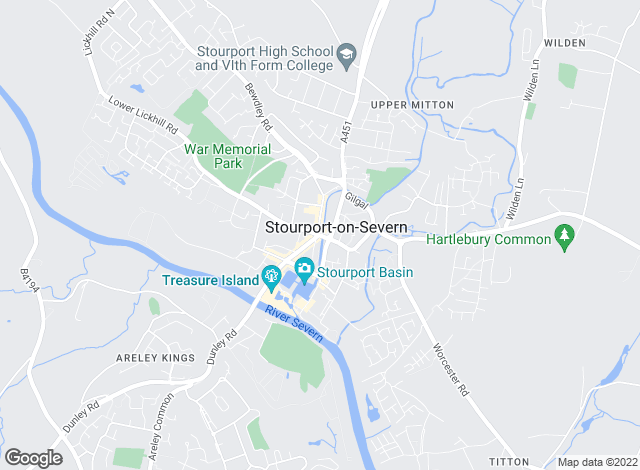 Map for Phipps & Pritchard, Stourport