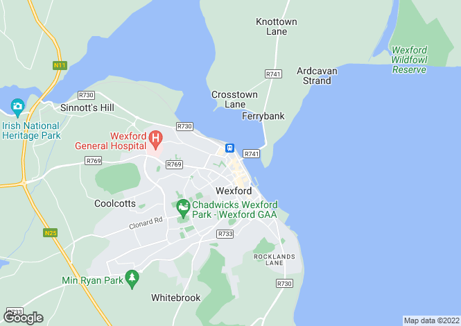 Map for 5 Lower George Street, Wexford Town, Wexford