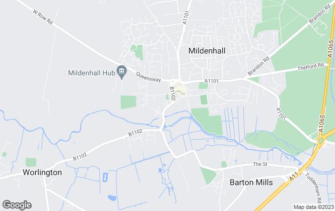 Map for Elvin Estates, Mildenhall