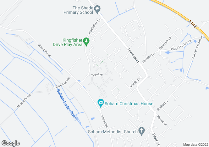 Map for Teal Avenue, Soham