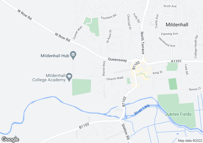 Map for Wamil Way, Mildenhall