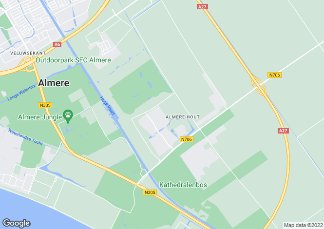 Map for Flevoland, Almere