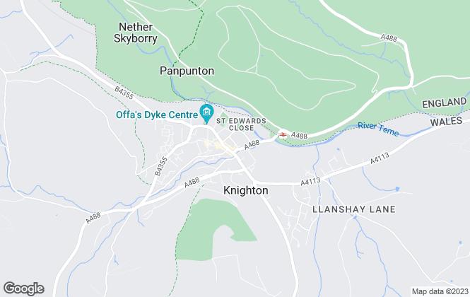 Map for McCartneys LLP, Knighton