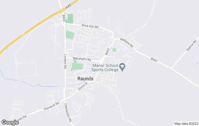 Map for Magenta Estate Agents , Raunds