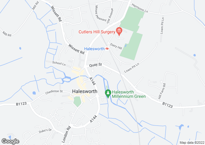 Map for Halesworth