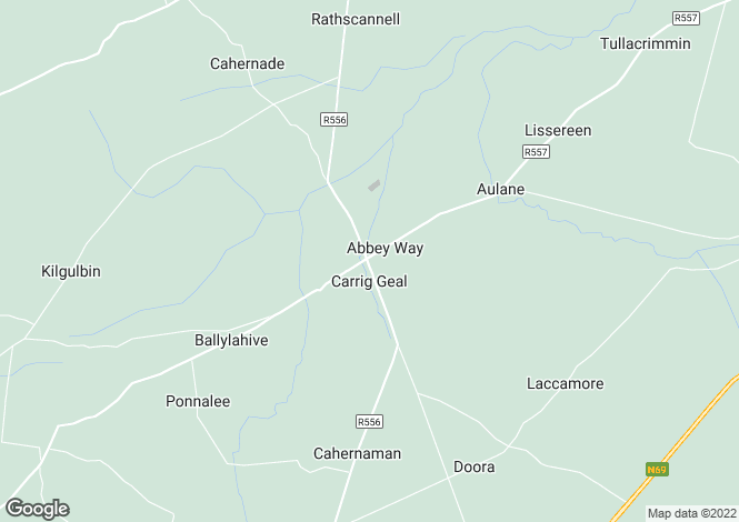 Map for Abbeydorney, Kerry