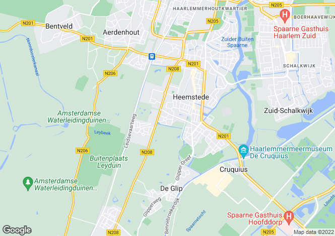 Map for Noord-Holland, Heemstede