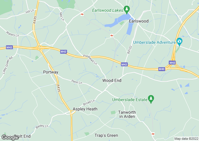 Map for Poolhead Lane, Tanworth In Arden, Tanworth In Arden, West Midlands