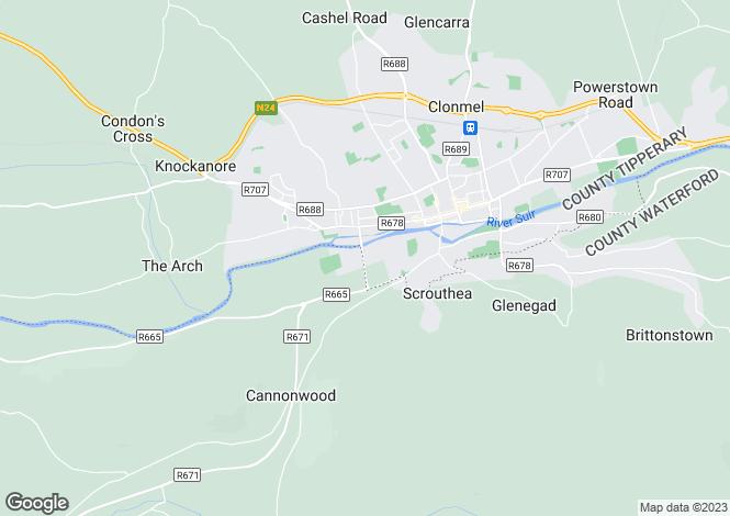Map for Moore's Island, Convent Bridge, Clonmel, Co. Tipperary, E91 EH52
